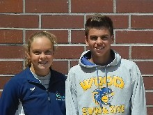 Athletes of the week- Joanna Curry (swim) and Todd Alden (dive)